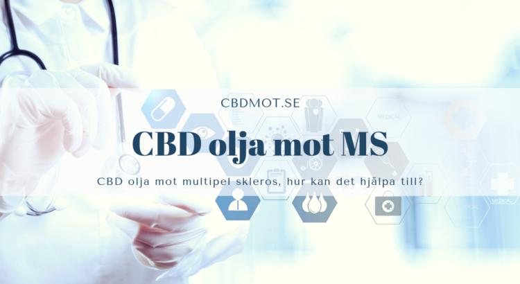 CBD olja mot MS